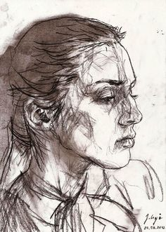 Charcoal sketches on paper, 2012-2013