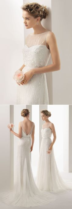 Rosa Clara / Soft Collection 2014 / UGO Beaded Dress - wedding dress, bridal gown