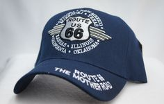 "ROUTE 66 ""WINGS ROUTE U.S 66 "" BASEBALL STYLE CAP WITH VELCRO COLOR BLACK"