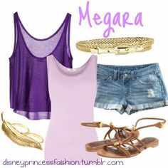 Hipster Megara Disney Bound Outfits Casual, Disney Princess Outfits, Disney Themed Outfits, Movie Inspired Outfits, Disney Inspired Fashion, Disney Dresses, Cute Outfits, Disney Clothes, Disney Fashion