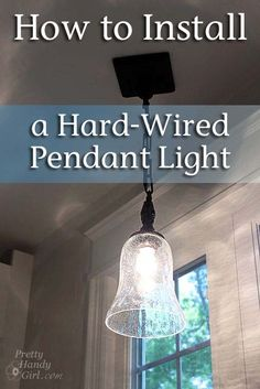 Britanny @Pretty Handy Girl is a great teacher. Fab tute on how to install a light.