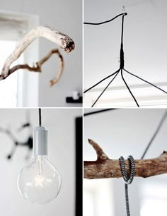 how to make that branch pendant lamp