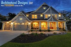 Architectural Designs House Plan 73325HS - Craftsman Jaw-Dropper - craftsman - exterior - minneapolis - by Architectural Designs