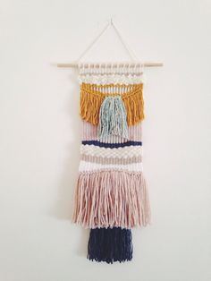 Weaving/ Wall hanging - love these colours
