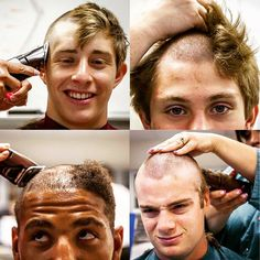 Welcome to the Air Force officers of the future! Trainees from the class of 2019 have their hair shaved off during in-processing at the U.S. Air Force Academy. (Courtesy photo by Nate Jones, Association of Graduates)