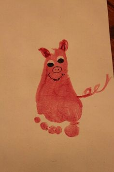 Handprint art, okay so it's a foot!