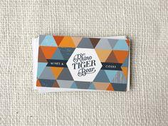 Rhino Tiger Bear - Business Card Design Inspiration | Card Nerd