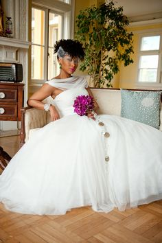 Page 2 « Natural Hair Inspiration for Black Brides | Munaluchi Bridal Magazine - africanamerican_natural_hairstyle_black_brides_modage040
