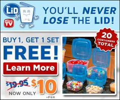 Never lose a lid again! BOGO FREE!