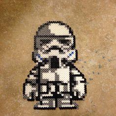 Star Wars Stormtrooper perler beads by Alexis Nicole