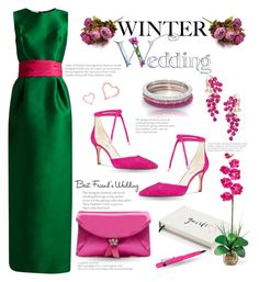 """Winter Wedding"" by tjclay3 ❤ liked on Polyvore featuring Oscar de la Renta, Nine West, J.Crew, Effy Jewelry, Kate Spade, Kaweco and winterwedding"