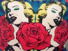 RED ROSE MARILYN cushion cover