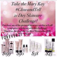 Join me in the 21 day MaryKay Skincare challenge. #book#purchaseonmywebsite