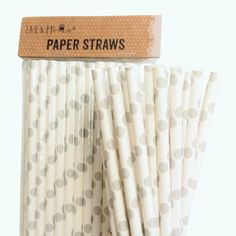 Silver Points Retro Drinking Paper Straws