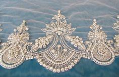 Rhinestone Pearl Crystal Trim for by gebridal
