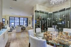 Wine room IN the kitchen - yes, please! #kitchen #wineroom