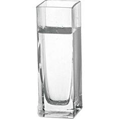 Vaso Quadrado Transparente 18cm