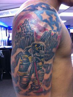 9/11 memorial tattoo by Joel - Tattoo Charlie's Preston Hwy ...