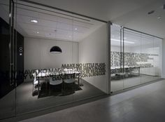 Conference Room Glass Walls. Its cool being able to seeing into the room.