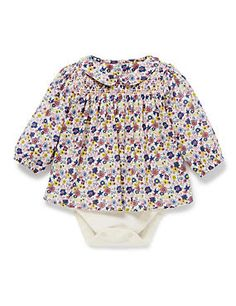 Ensure your newborn baby is in ultimate comfort with this floral bodysuit with modal.