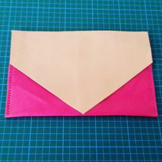#leathercraft #clutch in the #making #leather #ladiesbag #leatherpatterns