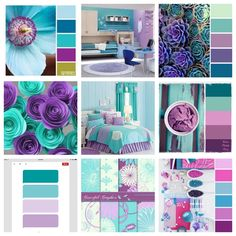 Girl's Room Colors {purple and teal/turquoise} Room colors for girls {purple and teal / turquoise} Girls Room Paint, Colors For Girls Bedroom, Girl Nursery Purple, Teal Girls Rooms, Girls Room Design, Baby Room Colors, Room Baby, Purple Baby, Bedroom Turquoise