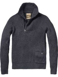 Chunky skipper pull with zip closure - Pulls - Scotch & Soda