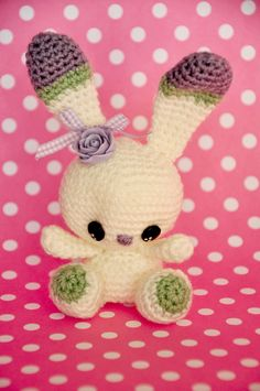 #chicaoutlet #amigurumi - free pattern - bunny  Cutest bunny I've EVER seen!! Must try for Easter gifts!