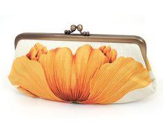 Yellow poppy clutch