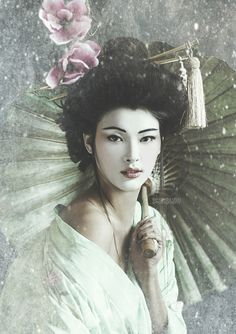 Photo Madame Butterfly par Amanda Diaz on Geisha Kunst, Geisha Art, Japanese Geisha, Japanese Art, Dark Beauty, Asian Beauty, Amanda Diaz, Madame Butterfly, Beleza
