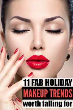 The holiday season is coming! Whether you need a look for Christmas, New Years or your holiday office party, these makeup tutorials will take you to holiday glam in a cinch! From bold and dramatic red lips to gold glitter smokey eyes, these holiday makeup looks are all you need this season! Full makeup tutorials included!