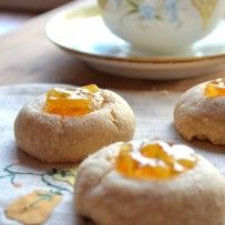 Brown Butter Thumbprint Cookies with Sweet Orange Marmalade
