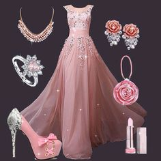 How about wearing this fantastic floor length dress for your coming party? Quinceanera Dresses, Prom Dresses, Formal Dresses, Girls Fashion Clothes, Fashion Dresses, Evening Outfits, Evening Dresses, Beautiful Gowns, Beautiful Outfits