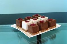 """Chocolate """"cake"""" and vanilla """"cheesecake"""", flavoured with chai and made with all-raw ingredients"""