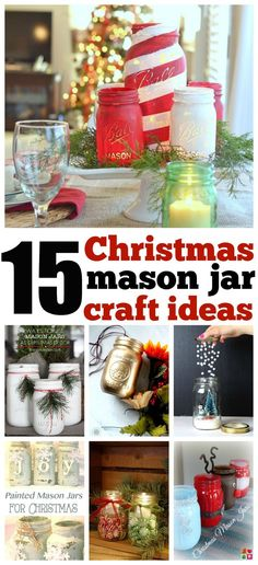 15 Amazing Mason Jar Christmas Crafts and idea inspiration , gifting, centerpieces and more (mason jar centerpieces winter) Mason Jar Christmas Crafts, Jar Crafts, Holiday Crafts, Christmas Diy, Christmas Decorations, Christmas Origami, Childrens Christmas, Christmas Pictures, Christmas Presents