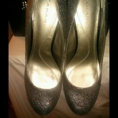 Tahari Silver tone Shoes from Nostroms... Tahari Silver tone semi casual shoes..Work or evening wear...Wore once size 8 .. Tahari Shoes