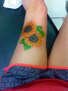 My sunflower tattoo! #sunflower #tattoo