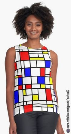 Modern Art Red Yellow Blue Grid Pattern Women's Contrast Tank Top http://www.redbubble.com/people/markuk97/works/21575583-modern-art-red-yellow-blue-grid-pattern?asc=t&p=contrast-tank via @redbubble