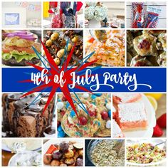 Enjoy this 4th of July Holiday Recipes Party Plan for the most delicious summer party! Choose your favorite recipes, table setting, and fun activities!