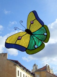 Stained glass suncatcher - Butterfly. $50.00, via Etsy.