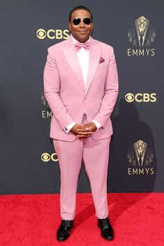 Stars Are Arriving for the 2021 Emmy Awards: See All the Photos from the Red Carpet! Suit Up, Pink Suit, Kenan Thompson, Cedric The Entertainer, Jennifer Coolidge, Samira Wiley, Jean Smart, Jason Sudeikis, The Emmys