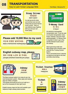 8. Transportation  An Illustrated Guide to Korean by  Chad Meyer and Moon-Jung Kim