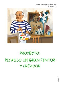Proyecto Picasso - 1º Primaria Picasso Guernica, Pablo Picasso, 4 Kids, Art For Kids, Diy And Crafts, Arts And Crafts, Spanish Art, Painting For Kids, Children Painting