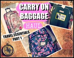 lifestyle: CARRY ON BAGGAGE HAUL