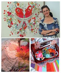 """""""The extremely talented Lou Gardiner - pictured - showed us exciting new ways to bring embroidery into the modern day and give it the   contemporary cool factor"""". via Country Days"""