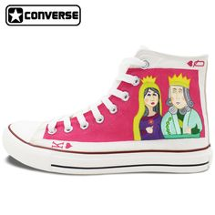 387407a0bfe5 Original Hand Painted Shoes Woman Brand Sneakers Design Poker King Queen  Heart Q K High Top Converse