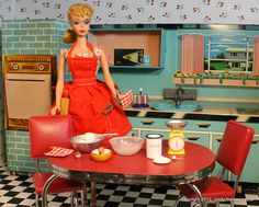 Vintage Tin-Litho Barbie-Size Kitchen by Superior, photo by FabCityCindy, via Flickr