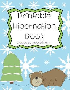 "I created this book for my kindergarten hibernation unit. It is a half-page decodable book about animals that hibernate. The students fill in the vocabulary word ""hibernate"" and draw a picture of each animal that hibernates."