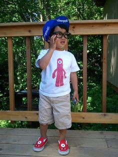 Happy Hipster Kid