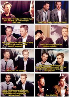 Zachary Quinto and Chris Pine doing Star Trek Reboot interviews - love these guys <3 can't wait for the new movie!!